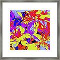 Bee Flowers 13a Framed Print