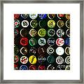 Beer Bottle Caps . 9 To 12 Proportion Framed Print