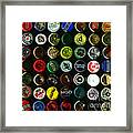 Beer Bottle Caps . 8 To 10 Proportion Framed Print by Wingsdomain Art and Photography