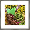 Beets And Sunflowers Framed Print