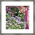 Belle In The Garden Framed Print