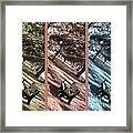 Bench In The Park Triptych  Framed Print by Susanne Van Hulst