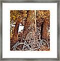 Bicycle Built For Two Framed Print by Debra and Dave Vanderlaan