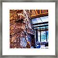 Big Sky Lodge Interior Framed Print