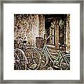 Bikes And A Window Framed Print