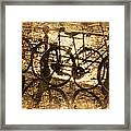 Bikes On The Canal Framed Print