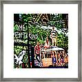 Billboards In Times Square Framed Print