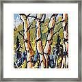 Birches Aglow By Prankearts Framed Print