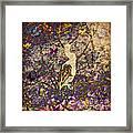 Bird And Butterflies Framed Print
