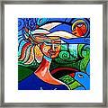 Bird Lady Framed Print