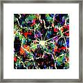 Black Break Framed Print