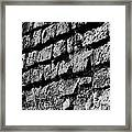 Black Wall Framed Print