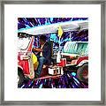 Blazing Tuk Tuk  Framed Print