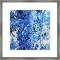 Ocean - Blue Abstract Art Paintingi Framed Print