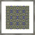 Blue And Yellow Chevron Pattern Framed Print