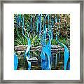 Blue Flamingos  Framed Print