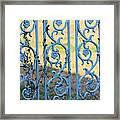 Blue Gate Swirls Framed Print