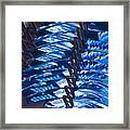 Blue Lights Framed Print