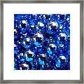 Blue Marbles Framed Print