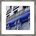 Blue Paris Lights Framed Print