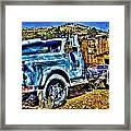 Blue Truck Framed Print
