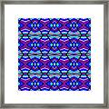Blue Turquoise And Purple Framed Print