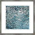 Blue White Water Bubbles In A Pool Framed Print