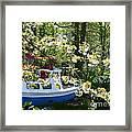 Boat At The Keukenhof Framed Print