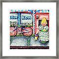 Bon Bon Betty Framed Print