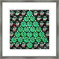 Bottle Caps Christmas Tree Framed Print
