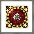 Bouquet Of Roses Kaleidoscope 5 Framed Print