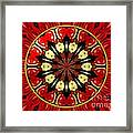 Bouquet Of Roses Kaleidoscope 8 Framed Print