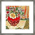 Bowl And Blossoms Framed Print by Diane Fine