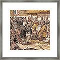 Brazza In Africa, 1880 Framed Print