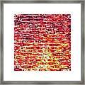 Brick Wall In Pencil Framed Print