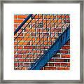 Bricks And Steel Framed Print