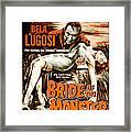 Bride Of The Monster, Bela Lugosi, 1955 Framed Print