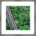 Bridge Over The Lazy River Framed Print