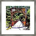 Bridge To The Wild Side Framed Print