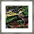 Brook Texture 127 Framed Print
