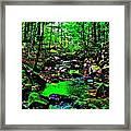Brook Texture 24 Framed Print