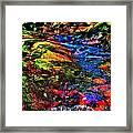 Brook Texture 52 Framed Print