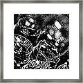 Bubble Scape Framed Print