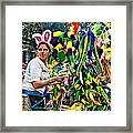 Bubbles And Bunny Ears Framed Print