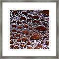 Bubbles Of Steam Cherry Wine Red Framed Print