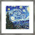 Bubbly Starry Night Framed Print