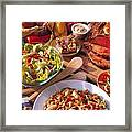 Buffet Spread Framed Print