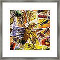 Bugs On Postage Stamps Framed Print