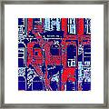 Building Facade In Blue And Red Framed Print