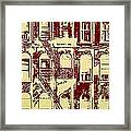 Building Facade Line Art Framed Print